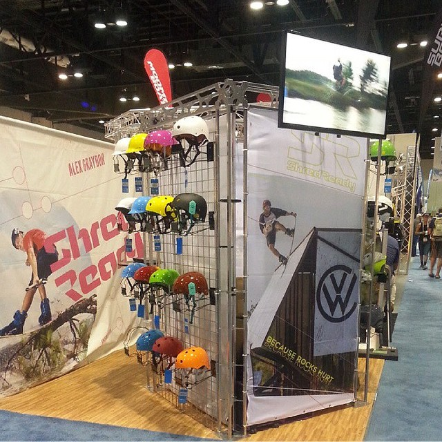 Be sure to stop by #booth534 for all the new @shred_ready_helmets // stoked to have a Colab helmet with them! The sesh #happyshredding available in matte black and burgundy // #surfexpo @surfexpo #stzlife #cuzrockshurt #helmet #wakeboard #safetyfirst...