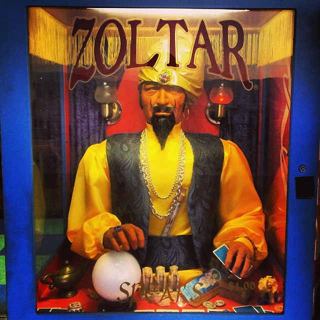 If you ask nicely Zoltar may tell you where the MuscleMoronga is hiding #LoadedHunt @santamonicapier