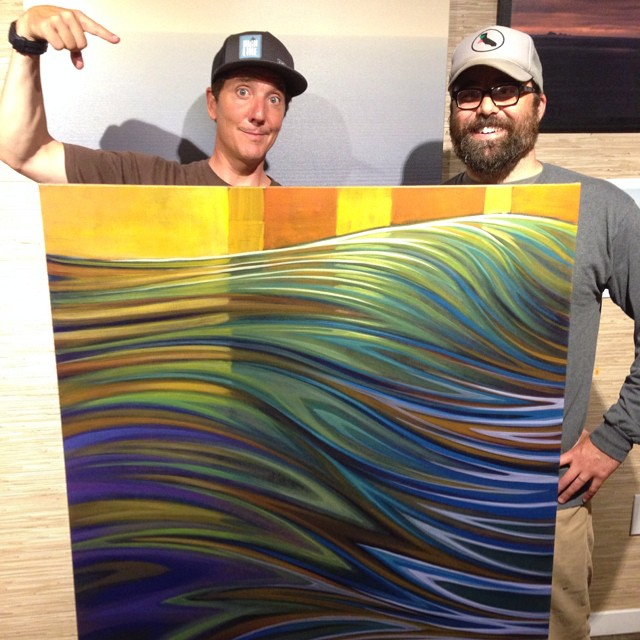 Just wrapped up an amazing evening at the start of the High Line Festival of Surfing, featuring the ever talented Matt Beard, who knocked out this techno colored seascape during the 3 hour party. Proceeds from the sale of this pigmented passion play go...