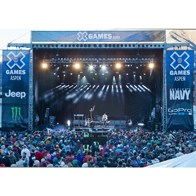 Which musicians would you like to see live at X Games Aspen?  Comment below and we'll tally your top choices. (Photo via @espn_images)