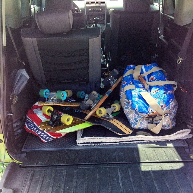 Road-trip essentials. We're headed to FL for the weekend. #handmade #handmadeskateboard #skateboard