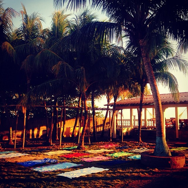 Evening yoga class..what a place to practice!