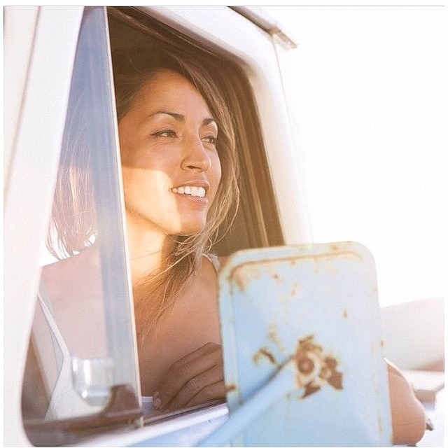 that golden sunlight and her smile... love this pretty portrait of #seeababe @melesaili by @ianmcdonnell ! #regram