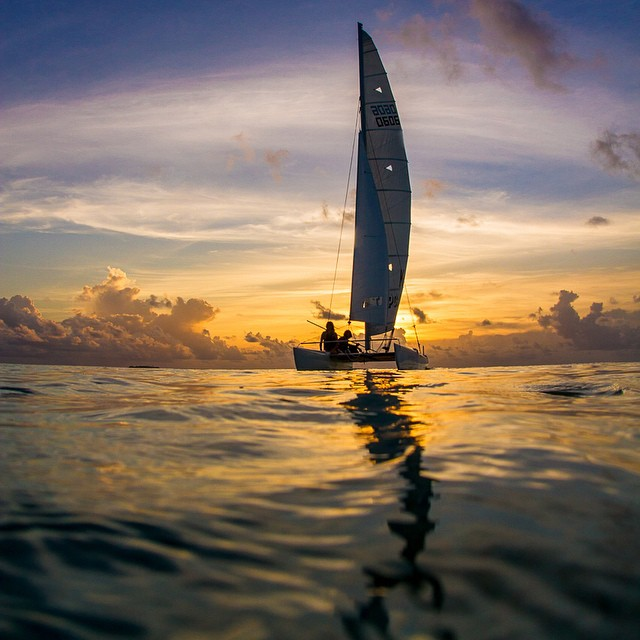 What's on your bucket list?  Amazing sunset sail last night captured by @hisarahlee