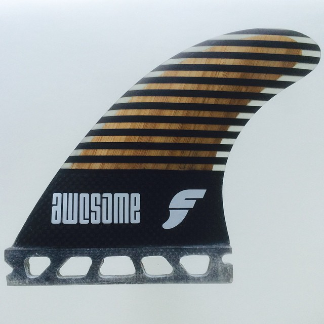 coming soon. out own custom template. 5 fin set, carbon base and bamboo inlay. stay tuned. @awesomesurfboards #awesome #madeincalifornia #futurefins#surfing #surf#fins