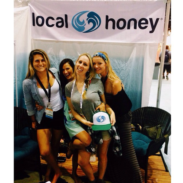 Having a blast at Surf Expo with @chloevetterli @waveofwellness @dancedanidance @calirainbow the Florida crew! Thanks for coming by to visit @maverickssurfshop @hippytree @rawsonsurfboard @gabegley @philliprainey @ryanguay @boardworkssurfsup...
