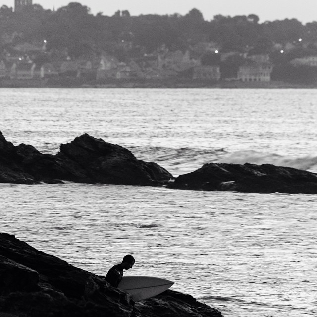 RI last week, another photo by @paulgirello #coldwatersurf #ri #blackandwhite