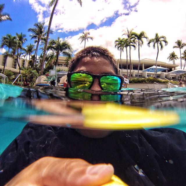 Sunday morning swim session selfies | #Kameleonz #LifesABeach #GoPro #GoPole #Bali #Selfie #WheresYourBeach pic by @zacharyinfante