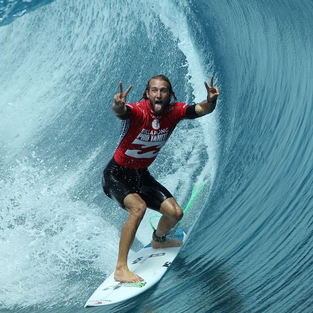 Our World of X Games #BillabongProTahiti show airs today at 2:30 pm ET on ABC. (Photo via Tom Servais)
