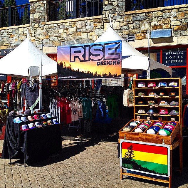 All set up for day 2 @skinorthstar for the #autumnfoodandwinefest . Happy Sunday Tahoe! #risedesigns