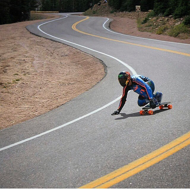 @patrickswitzer dialing curves and memorizing the race couse yesterday at #PikesPeak ! Get your P- Swiss pucks at www.holesom.com #staysteez #keepitholesom