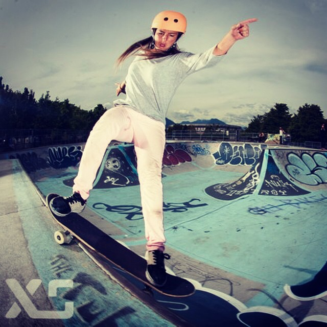 Missing this rad girl @huntahlong ! She'll be ripping it up at the #SkateForTheCure in Seattle in a couple of weeks. Come check it out! #hunterlong #xshelmets #xsteam #girlswhoshred