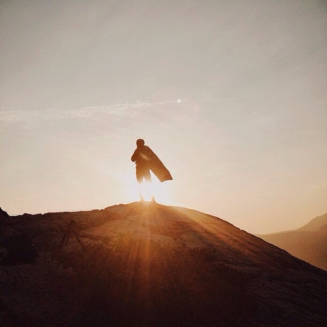 Get inspired this Monday. @Calsnapephoto staying warm and standing triumphant during sunrise atop Bears Hump in Waterton, Alberta. Photo: @cruiserlifestyle #gorumpl #sunrise #goldenhour #silhouette #morninglight #prophoto