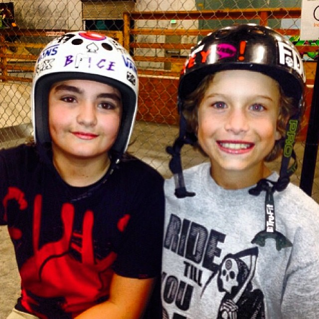 @ryanslusher Checkin in from the last night at Epic Skatepark. Great to see @tryonbmx back riding a little, been out with a leg injury for quite a whole! Two crazy shredders in this pic! #bmx #bmxfam #fdvclothing #riderowned #california