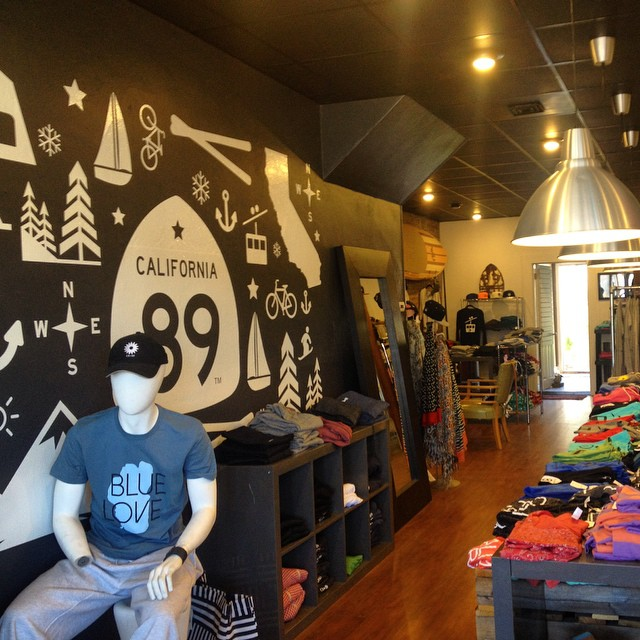 Stopped by the @cahwy89 shop while we were up in Truckee yesterday - love the vibe of the shop and the idea behind the brand that when you leave Tahoe, a part goes with you - because it's true - (we're still riding that Tahoe mountain air high into...