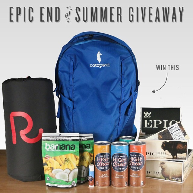 Epic End of Summer Giveaway! Classes have begun, hot summer days are winding down and autumn is right around the corner, but our adventurous spirit won't be saying farewell! To celebrate the end of a fantastic summer and welcome fall with excitement,...