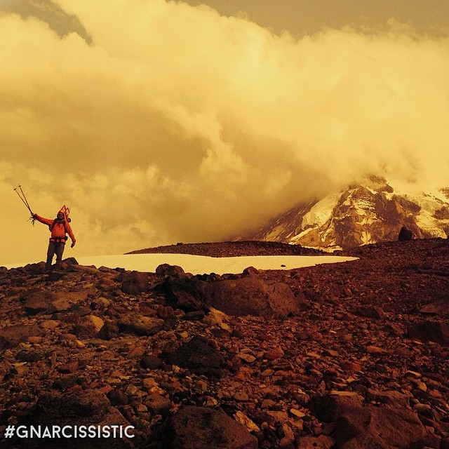 Get on top of a mountain.  PC: @kellymsteele  #GNARCISSISTIC