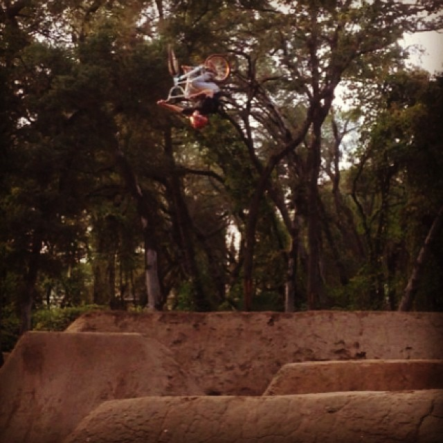 Team rider @curtisfrenchfry getting crazy at the trails. #bmx #trails #riderowned #fdvclothing #stuntman