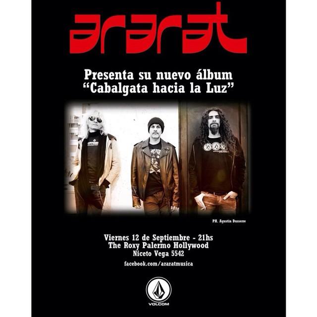 Ararat, 12 de septiembre en Niceto. #Ararat #VolcomEnt #Volcom