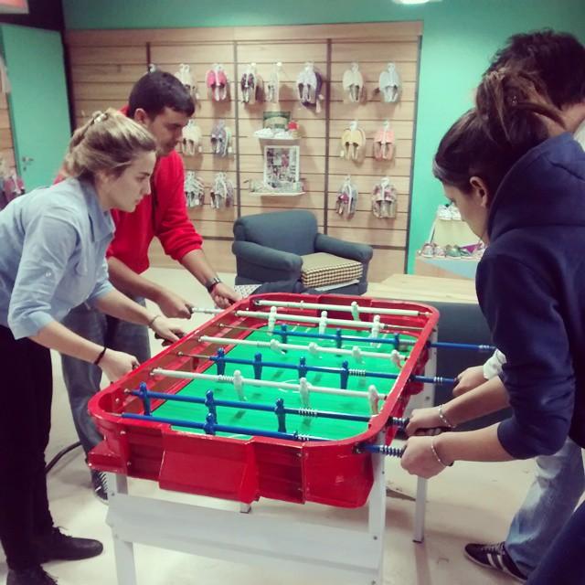The game is on! In Buenos Aires HQ empezó el campeonato de metegol! #paezteam #wedo #metegol