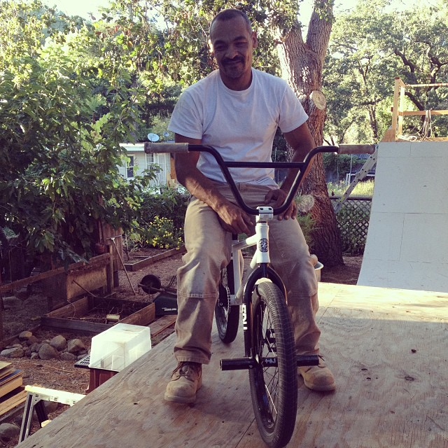 OG Rider Jeremy Kemp out here working on the #fdvclothing ramps! #bmx #riderowned