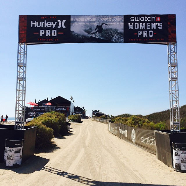 Awesome to see a women's @asp WCT event alongside the men's this year at Lower #Trestles! #swatchwomenspro #hurleypro #surf #surfing