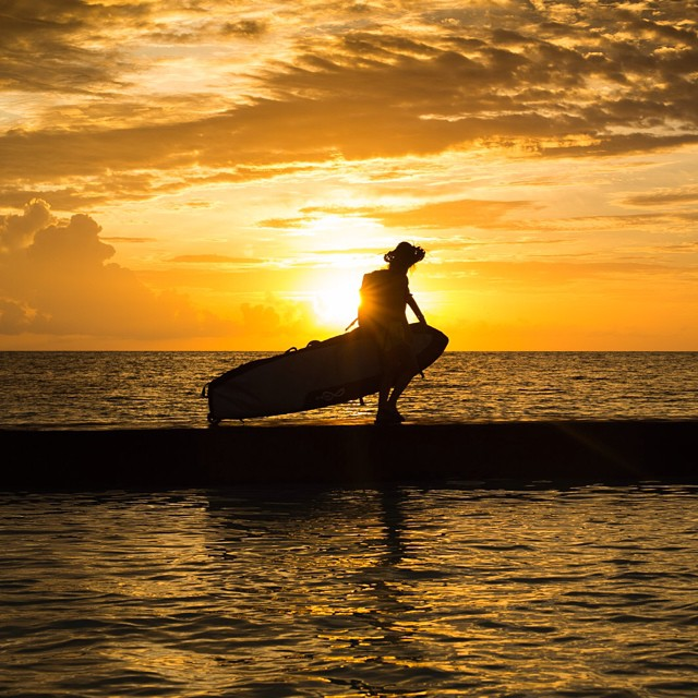 What do you love about travel?  Photo by @marktipple  @fcs_surf roller board bag