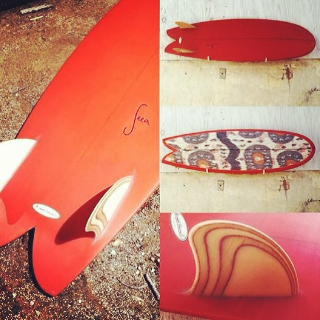 Check out the Seea x Furrow California fish with fabric inlay in person, now on display at Surfy Surfy in Leucadia! Free Seea suit goes to you if you become the happy owner of this board.  @furrowsurfcraft @surfysurfy