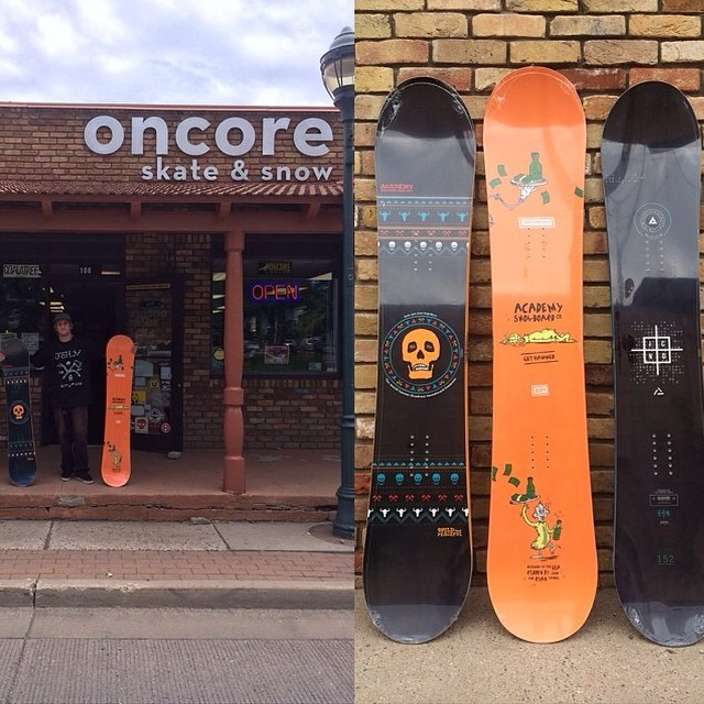 Get into @oncoreskateandsnow in #Flagstaff to get your new 14/15 Academy boards.  #regram #academykidsrule #goodpeople #greatsnowboards #teamseries #propacamba #icon #mattycapproved @ya_boy_mattyc #winteriscoming
