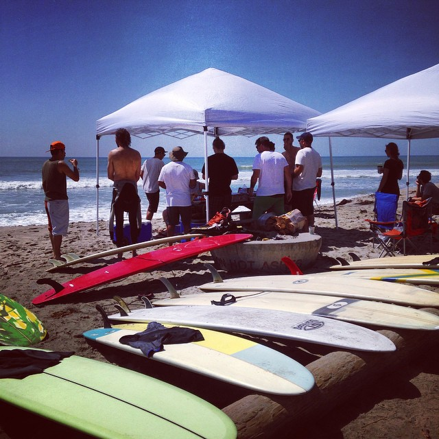 Surf day at San Onofre with the #loadedboards and @orangatangwheels crew! #welovecalifornia