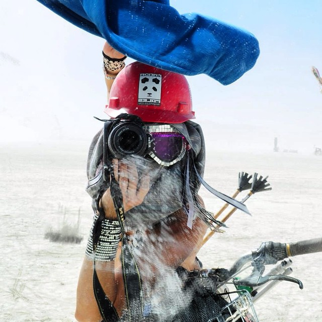 Sending a huge Happy Birthday shout out to first lady and photographer of Panda Poles, MoPho Rosenthal! Thanks for all the amazing photos and hilarious memories Mo! #TRIBEUP birthdays!  Self portrait by @mophofomo  #PandaPoles #BurningMan