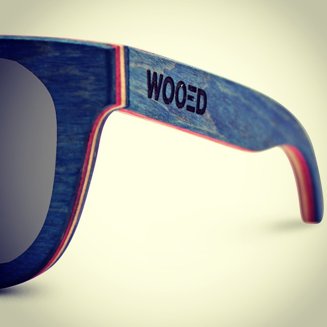 Who likes blue? Reclaimed Sk8board maple wood. #sfmade #wooedbywood