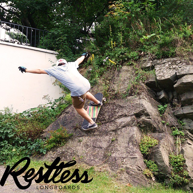 Riding rocks! That is what team rider LP is doing on his chopped #restlessConcorde ! #restlessboards