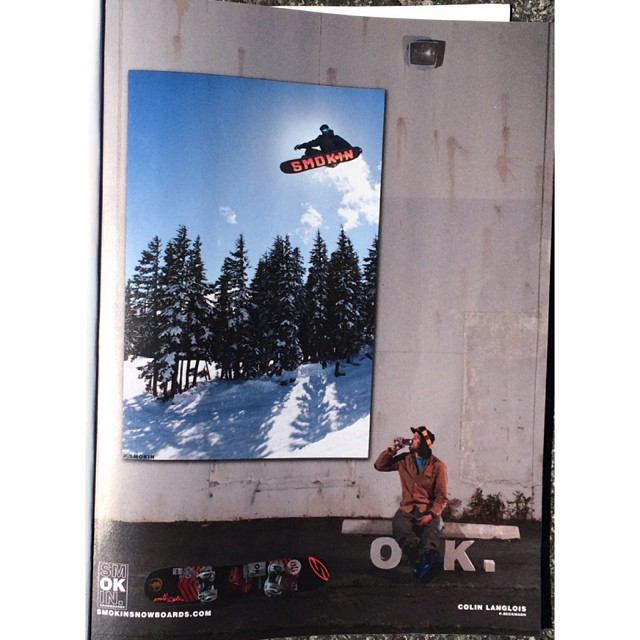We are so stoked on @eldulche #ColinLangois ad in @twsnow - our #jetson board is a ripping all round board, not just an life changing pow deck. The shot I was lucky enough to get from the deck of the @ride7springs hip at #superpark18 . Colin is a #G...
