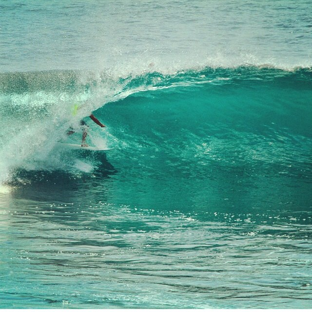 Crew member @wyattelder getting deep in the barrel! #surf #disidual #salt #shred