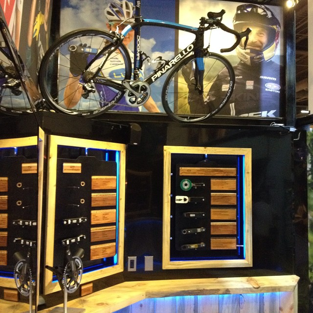 @stagescycling booth details. #interbike  Thoughts on details? #inlaysthedevil