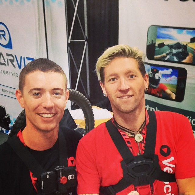 Having fun playing with the monopod at #Interbike
