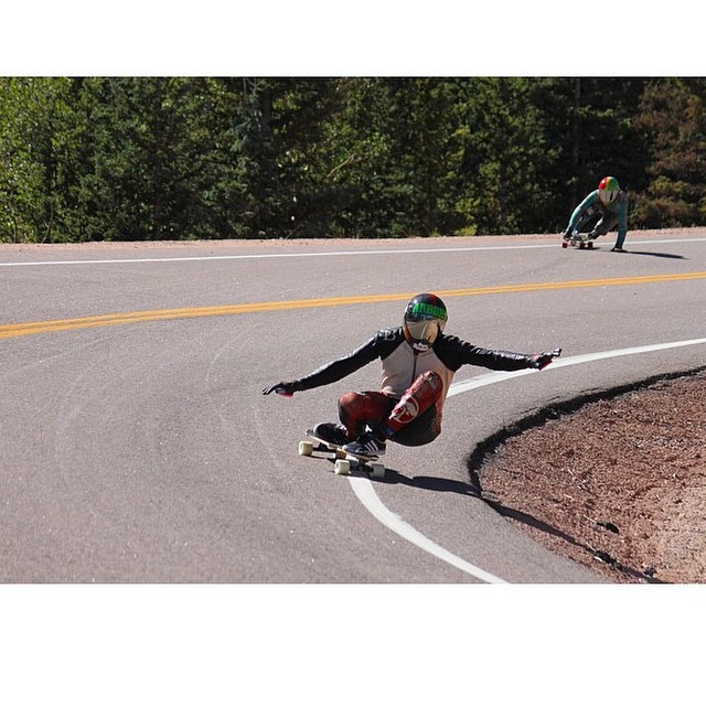@tyler_howell_sb JAMMIN' the high altitude curves of Pike's Peak! PC: @santa_gnarbara #calibertrucks