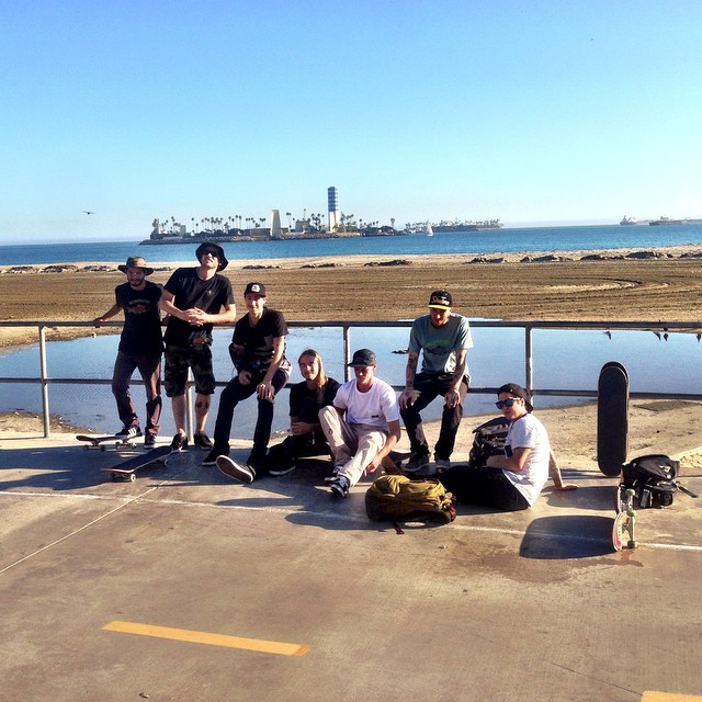 Afternoon in #LongBeach | with @mark_appleyard @nick_trapasso @davidgravette @jamietancowny @jtrhoades @elijahsr and crew