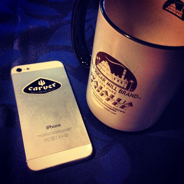 #iPhone #carver #coffee #break