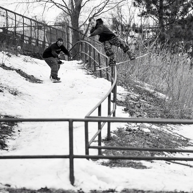 Gettin hyped for winter with this banger shot of @notb_house with a #backsideblunt to #railgap shot by @marco____d for #issue32 #steezmagazine @iride4jason on film duty.