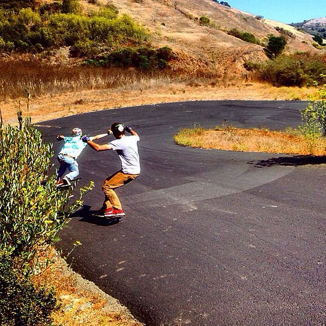 Team rider Chad Lybrand--@ragnars_world hitting hairpins with the Mids crew.  #chadlybrand #bonzing #skateboarding #california #mids @midsvan