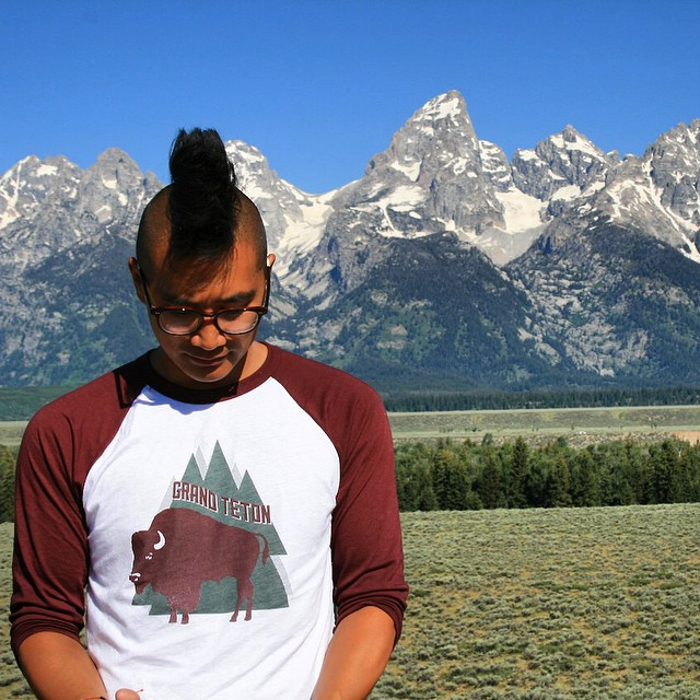 Our baseball tees are soft, pre-shrunk, and #madeintheUSA to promote, protect, and preserve our #radparks. Photo cred: @alliedominguez #grandteton