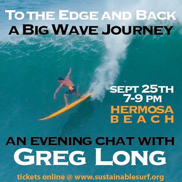 Come spend an evening with our ambassador Greg Long, and hear about his adventures and how this relates to ocean conservation. Buy tickets on our website. @gerglong