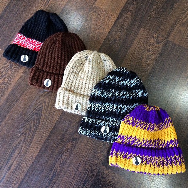 Hand knitted hats now available @piffmpls⛄️#frostyheadwear #beanies #madeinMN #piffmpls  1506 Como Ave, Minneapolis MN 55414