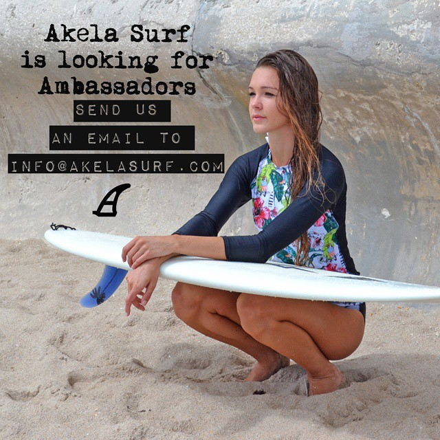 #AkelaSurf  is looking for Ambassadors please send us an email to info@akelasurf.com