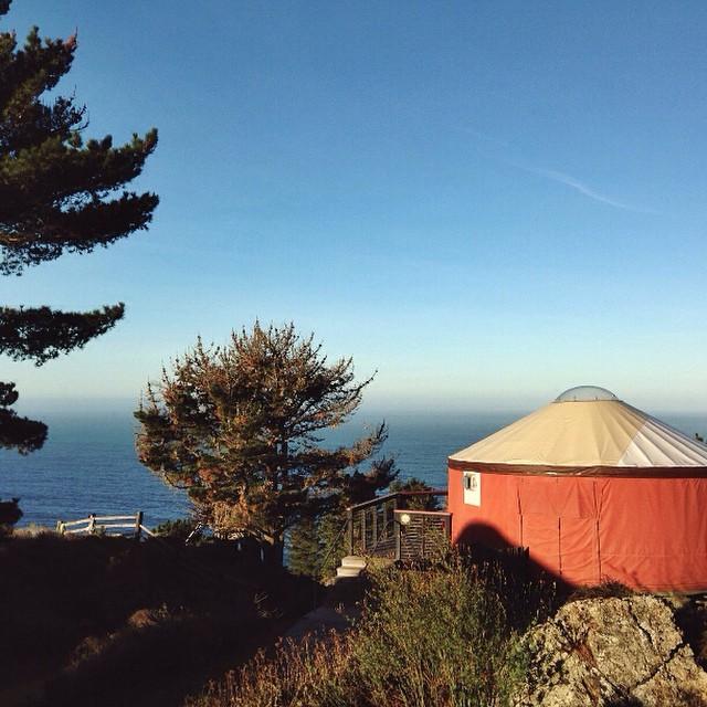 we love yurts #treebones #bigsur #glamping #bohemian #rustic