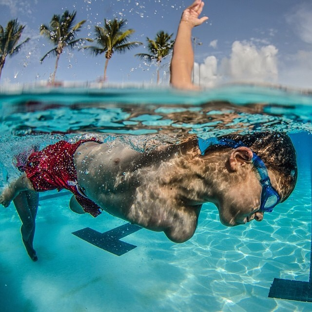 Learning how to swim #lifesabeach #kameleonz #wheresyourbeach #kids #swimming #gopro pic by @marquezpr009
