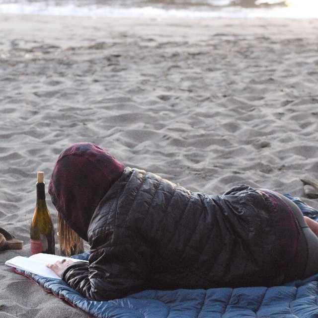 Take some time to relax this Sunday #beachblanket #relax #wineandabook #chill