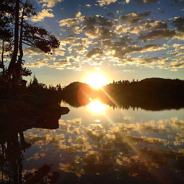 Sunrise in Desolation Wilderness. 9.14.14 - Middle Velma Lake #risedesigns #riseinspired #natureinspired